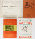 Books:Americana & American History, [Western Americana]. Texas, Horses, and More. Group of Four Books.Various publishers and editions. Publisher's binding and ...(Total: 4 Items)