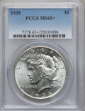 Peace Dollars: , 1935 $1 MS65+ PCGS. PCGS Population (771/173). NGC Census: (727/77). Mintage: 1,576,000. Numismedia Wsl. Price for problem ...