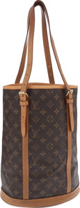 Luxury Accessories:Bags, Louis Vuitton Classic Monogram Canvas Bucket Bag. ...