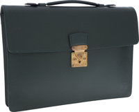 Louis Vuitton Hunter Green Taiga Leather Robusto Briefcase