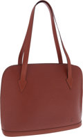 Luxury Accessories:Bags, Louis Vuitton Brown Epi Leather Lussac Tote Bag. ...