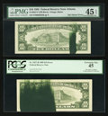 Error Notes:Ink Smears, Fr. 2011-L $10 1950A Federal Reserve Note. PCGS Extremely Fine40PPQ; Fr. 2026-B $10 1981A Federal Reserve Note. PCGS Choice A...(Total: 4 notes)