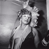 DIANE ARBUS (American, 1923-1971) Transvestite at a Drag Ball, New York City, 1970 Gelatin silver, p