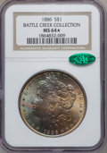Morgan Dollars, 1886 S $1 MS64 ★ NGC. CAC. Ex: Battle Creek Collection. NGC Census:(50119/26153). PCGS Popul...