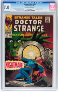 Silver Age (1956-1969):Horror, Strange Tales #164 (Marvel, 1968) CGC FN/VF 7.0 Off-white to whitepages....