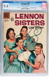 Four Color #951 The Lennon Sisters Life Story - File Copy (Dell, 1958) CGC NM 9.4 Off-white to white pages