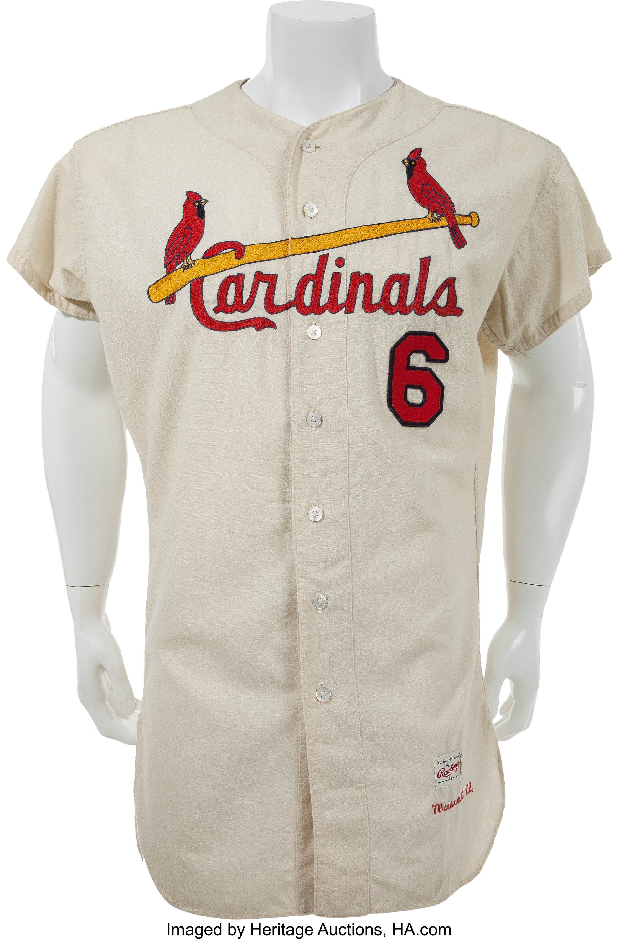 timeless design 5679f 3113d 1962 Stan Musial Game Worn St. Louis Cardinals Jersey, MEARS ...