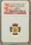 Australia: , 2012-P G$5 Year of the Dragon MS70 NGC. NGC Census: (684). PCGSPopulation (0)....