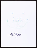Autographs:Others, Jerricho Cotchery: Football Player's Doodle for Hunger.Benefiting St Francis Food Pantries and Shelters. ...