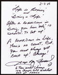 Boxing Collectibles:Autographs, Sugar Ray Leonard: Boxer's Doodle for Hunger. Benefiting St.Francis Food Pantries and Shelters. ...