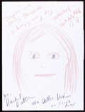 Movie/TV Memorabilia:Autographs and Signed Items, Rachel Dratch (Debbie Downer): Comedienne's Doodle for Hunger. Benefiting St Francis Food Pantries and Shelters...