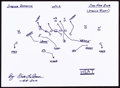 Autographs:Others, Dick LeBeau: Football Player's Doodle for Hunger. Benefiting St Francis Food Pantries and Shelters. ...
