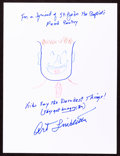 Movie/TV Memorabilia:Autographs and Signed Items, Art Linkletter: Television Host's Doodle for Hunger.Benefiting St Francis Food Pantries and Shelters. Actor'...