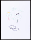 Movie/TV Memorabilia:Autographs and Signed Items, Don Rickles: Comedian's Doodle for Hunger. Benefiting StFrancis Food Pantries and Shelters. ...