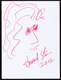 Movie/TV Memorabilia:Autographs and Signed Items, Howard Stern: Entertainer's Doodle for Hunger. Benefiting StFrancis Food Pantries and Shelters. ...