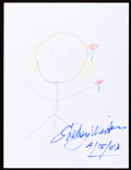 Movie/TV Memorabilia:Autographs and Signed Items, Shelly Winters: Actress' Doodle for Hunger. Benefiting StFrancis Food Pantries and Shelters. ...