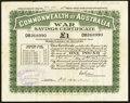 Miscellaneous:Other, Australia £1 War Savings Certificate Issued Dec. 22, 1943Schwan-Boling 535a1.. ...