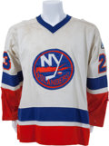 Hockey Collectibles:Uniforms, 1980 Bob Nystrom Stanley Cup Finals Game Six Game Worn New YorkIslanders Jersey....