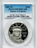 Modern Bullion Coins, 2001-W P$100 One-Ounce Statue of Liberty PR70 Deep Cameo PCGS. PCGSPopulation (106). NGC Census: (285). Numismedia Wsl. P...