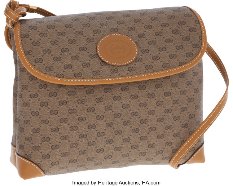 ed9b1d65618 Gucci Crossbody Vintage Monogram Canvas and Leather Bag. ... Luxury ...