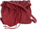 Luxury Accessories:Bags, Carlos Falchi Red Python Cross Body Bag . ...