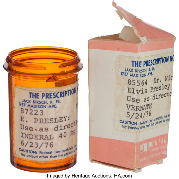 Elvis Presley Owned Prescription Bottle And Box 1976 Total Lot 46290 Heritage Auctions