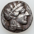 Ancients:Greek, Ancients: ATTICA. Athens. Ca. 454-404 BC. AR tetradrachm. ...