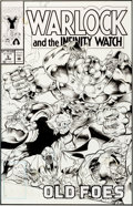 Original Comic Art:Covers, Angel Medina and Bob Almond Warlock and the Infinity Watch#5 Cover Original Art (Marvel, 1992)....