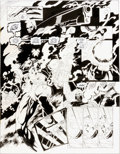Original Comic Art:Splash Pages, Joe Quesada and Kevin Nowlan Batman: Sword of Azrael #4Pages 19 and 20 Double-Page Splash Original Art (DC, 1993)...