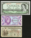 Canadian Currency: , Canada and United States Military Payment Certificates.. ...(Total: 3 notes)