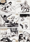 Original Comic Art:Panel Pages, John Buscema Savage Sword of Conan #70 Page 11 Original Art(Marvel, 1981)....