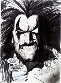 Original Comic Art:Splash Pages, Simon Bisley Lobo's Back Splash Page Original Art (DC,1992)....