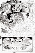 Original Comic Art:Panel Pages, John Romita Jr. and Dick Giordano Thor #18 Page 6 OriginalArt (Marvel, 1999)....