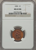 Indian Cents: , 1890 1C MS65 Red and Brown NGC. NGC Census: (77/0). PCGS Population(26/1). Mintage: 57,182,856. Numismedia Wsl. Price for ...