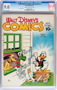 Walt Disney's Comics and Stories #7 (Dell, 1941) CGC VF/NM 9.0 Cream to off-white pages