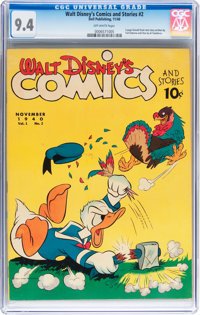 Walt Disney's Comics and Stories #2 (Dell, 1940) CGC NM 9.4 Off-white pages