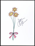 Movie/TV Memorabilia:Autographs and Signed Items, Sutton Foster: Actress' Doodle for Hunger. Benefiting StFrancis Food Pantries and Shelters. ...