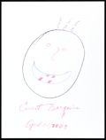 Movie/TV Memorabilia:Autographs and Signed Items, Ernest Borgnine: Actor's Doodle For Hunger . Benefiting St.Francis Food Pantries and Shelters . ...
