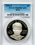 Modern Issues: , 1998-S $1 Robert F. Kennedy Silver Dollar PR69 Deep Cameo PCGS.PCGS Population (1178/43). NGC Census: (1304/64). Numismed...