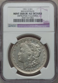Errors, 1921-S $1 Morgan Dollar -- Broadstruck, Improperly Cleaned -- NGCDetails. AU....