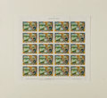 Autographs:Artists, Arthur Szyk, artist. Block of Republic of Liberia Air Mail StampsSigned by the Artist Arthur Szyk. A block of .50 cent air ...