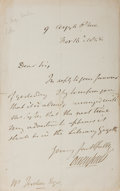 "Autographs:Authors, Owen Jones (1809-1874), English Architect and Author Autograph Letter Signed ""Owen Jones"". One page, 5"" x 7.75"", Novembe..."