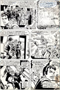 Original Comic Art:Panel Pages, Ross Andru, Frank Giacoia, and Dave Hunt Amazing Spider-Man#134 Page 6 Original Art (Marvel, 1974)....