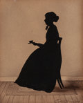 Works on Paper, Attributed to AUGUSTIN AMANT CONSTANT FIDÈLE EDOUART (French, 1789-1861). Silhouette Portrait of Esther Bromfield, Boston...