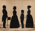 Works on Paper, Attributed to AUGUSTIN AMANT CONSTANT FIDÈLE EDOUART (French, 1789-1861). Silhouette Portrait of the Colescott Family, Bos...
