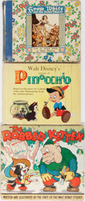 Books:Children's Books, Lot of Three Walt Disney Children's Books. Various publishers anddates. Includes The Robber Kitten, Snow White and th...(Total: 3 Items)