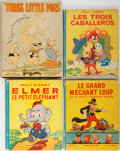 Books:Children's Books, Walt Disney. Group of Four Children's Illustrated Books. Variouspublishers and languages, 1933-1948. Publisher's binding an...(Total: 4 Items)