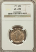 Standing Liberty Quarters: , 1918 25C MS62 Full Head NGC. NGC Census: (39/255). PCGS Population(33/342). Mintage: 14,240,000. Numismedia Wsl. Price for...