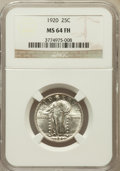 Standing Liberty Quarters: , 1920 25C MS64 Full Head NGC. NGC Census: (100/75). PCGS Population(156/126). Mintage: 27,860,000. Numismedia Wsl. Price fo...