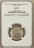 Barber Quarters: , 1892-O 25C AU58 NGC. NGC Census: (80/274). PCGS Population(95/314). Mintage: 2,640,000. Numismedia Wsl. Price for problem ...